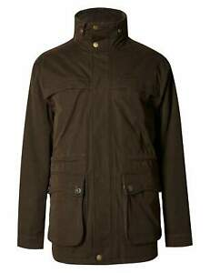 Mens Chocolate Brown Stormwear Cotton Blend Country Parka [T16/6458M] Size M