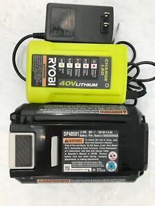 Ryobi 40v Lithium Battery OP40501 5ah OP404 Charge KIT GR