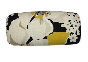 Vera Bradley Retired Dogwood Hard Eyeglass Sunglass Case Yellow Black Floral
