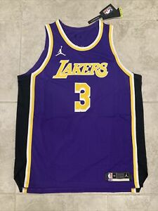 Nike Anthony Davis #3 LA Lakers Authentic STITCHED Jersey CV8856-505 Sz 56 XXL