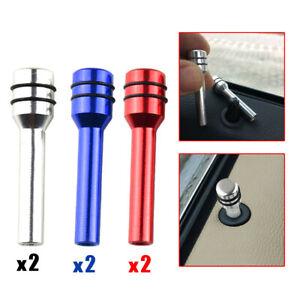 2x Car Interior Door Locking Lock Knob Pull Pins Cover Aluminium Accessories