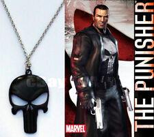 The Punisher Black Metal Pendant necklace Paintball Paint Ball MilSim SpeedBall