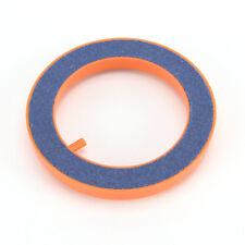 Aquarium Fish Tank Round Air Pump Bubble Disk Ring Stone Plastic Border Orange S