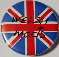 "WELSH MODS Union Jack Old OG Vtg 1980`s Button Pin/Badge 25mm-1""not parka vespa"