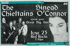 CHIEFTAINS / SINEAD O'CONNOR 1998 DENVER CONCERT TOUR POSTER - IRISH FOLK MUSIC