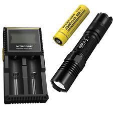 Combo: Nitecore P10GT Flashlight - 900Lm w/NL1835 3500mAh Battery & D2 Charger