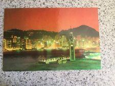 POSTCARD UNUSED HONG KONG-SOUTHEAST ASIA HONK KONG NIGHT SCENE
