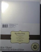 """Recollections Signature Cardstock Paper 8 1/2""""x11"""" 100 Sheets White Gold Shimmer"""