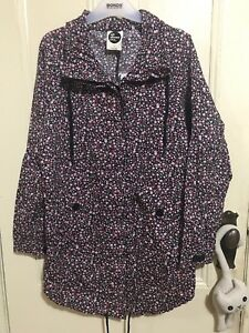 All About Eve pink and black floral jacket size 8