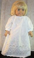 """Doll Clothes Made 2 Fit American Girl 18"""" inch Nightgown White Eyelett"""