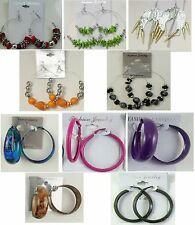 Wholesale Jewelry lots10pairs Fashion Colorful Hoop/Dangle mix Earrings  SU198