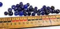 (20) Antique Trade Beads-Dutch Cobalt Padre-China