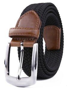 Elastic Fabric Braided Belt,Enduring Stretch Woven Belt for Unisex Men/Women/Jun