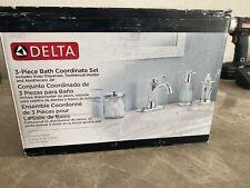 Delta 3-piece Bath Coordinate Set Chrome Finish New in Box