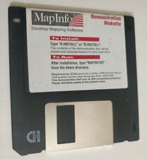 MapInfo 1992 - Desktop Mapping Software Floppy Disk - Demo for IBM PC's