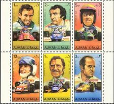 Ajman Motor Racing/Formula 1 Drivers/People/Cars/GP/F1/Sport 6v blk (n24336)