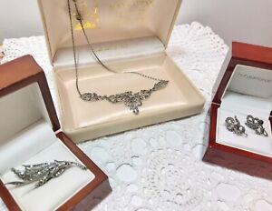 Vintage Estate Sterling Marcasite Jewellery
