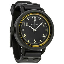 Nixon October Black Dial Mens Leather Watch A488-1354
