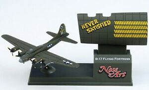 Corgi Nose Art B-17 Flying Fortress Never Satisfied Airplane NEW CS90412 Retired
