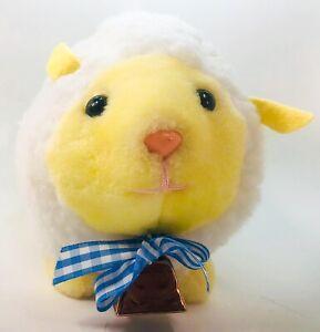 VINTAGE EDEN BABY Fleece LAMB SHEEP BELL STUFFED ANIMAL PLUSH TOY White Tag Chub