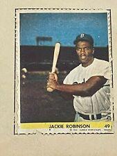1949 Eureka SportStamp Jackie Robinson Rookie Stamp #49 Brooklyn Dodgers