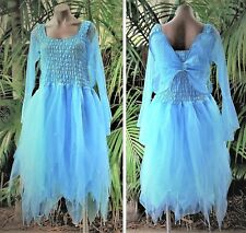 Women's Fairy Dress Costume with Sleeves & Wings - LIGHT BLUE