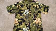 TOMMY BAHAMA Relax Camp Hawaiian 100% Silk XL.Embroidered SPECIAL RUM Logo