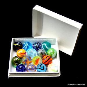 Glass Marbles by Vacor De Mexico Collectors Box Set of 16 x 16mm Mega Marbles