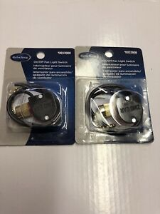 Lot Of 2 Harbor Breeze On/Off Fan Light Switch With Instructions 0033908 New
