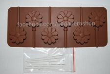 Flower Chocolate Lollipop Jelly Clay Fondant Silicone Mold Molder