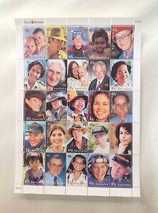 2000 - Australia - Faces of Australia Sheetlet MUH/MNH