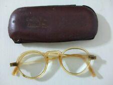 Antique Carey Glasses With Case Uruguay 1940's Rare!