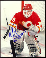 MIKE VERNON AUTOGRAPH SIGNED AUTO ON 8X10 HOCKEY PHOTO WITH COA FLAMES RED WINGS