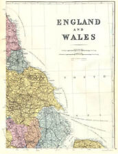 ENGLAND. North-East sheet. Lincolnshire Yorkshire Wash. Bacon 1895 old map