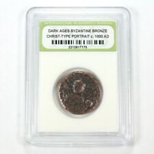 Unresearched Ancient Byzantine Bronze Coin Coins & Paper Money