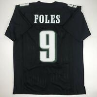New NICK FOLES Philadelphia Black Custom Stitched Football Jersey Size Men's XL