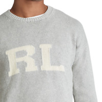 Polo Ralph Lauren Men's RL Cotton Sweater Andover Grey Heather NWT Free Shipping
