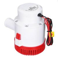 12V 3500GPH Electric Bilge Marine Sump Submersible Water Pump for Boat Yacht