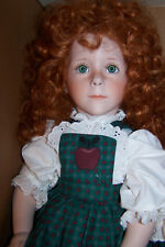 "Apple Annie by The Doll Maker Linda Rice, All Bisque, 24"" tall, Box"