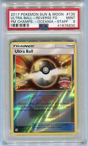 PSA 9 Ultra Ball #139 Pokemon Championship Oceania STAFF Card 135/149 2017