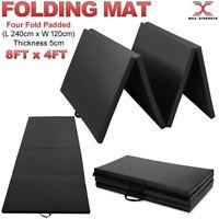 8FT Four Folding Gymnastics Yoga Floor Mats Gym Fitness Non Slip 5cm Thick Mat