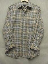 V5200 Scot Barber Beige/Black Houndstooth Button Up Shirt Men's L