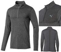 PUMA Golf Evoknit 1/4 Zip Pullover - RRP£75 - Black Heather - M L XL XXL
