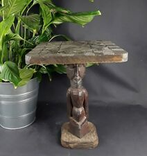 Table basse africaine bois personnage / wood table african art / tafel afrikaans