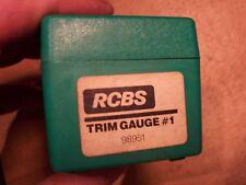 Rcbs Case Trim Gauge No. 1 Part # 98951