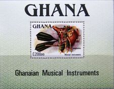GHANA 1987 Block 130 S/S 1042 Traditional Music Instruments Musikinstrumente MNH