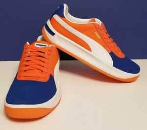 Puma GV Special Kokono NY Mets Knicks Style 369664 03 Orange Blue Men's Size 7.5