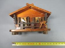 Ancienne petite boite en bois tirelire chalet chamois old piggy bank