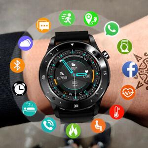 Bluetooth Sport Smartwatch Pulsuhr Blutdruck Fitness Tracker für iPhone Samsung