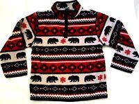 New Gymboree Fleece Pullover Jacket Bear Outerwear Boy Winter 5 / 6  Medium
